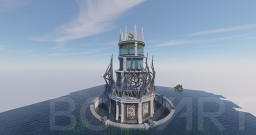 ALIEN TOWER FUTURISTIC ON OCEAN (DOWNLOAD) Minecraft Map & Project