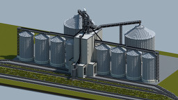 Grain elevator with Semi finished interior [With download] Minecraft Map & Project