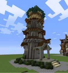 Green tower Minecraft Map & Project