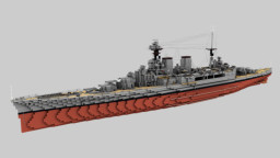HMS Hood , Admiral-class battlecruiser 1:1 Scale Minecraft Map & Project