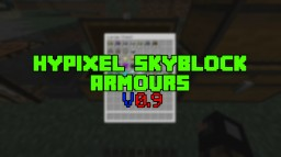 [1.14+] Hypixel Skyblock Armours v0.9 Minecraft Data Pack