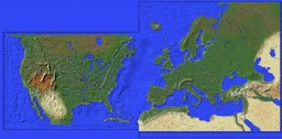 Atlantic Ocean Europe and America Minecraft Map & Project