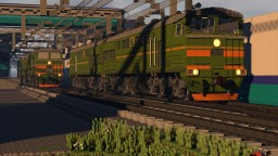 Russian trains in Minecraft: 2TE116 and 2TE10u Minecraft Map & Project