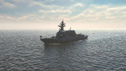 USS DDG-111 Spruance Arleigh Burke Class Flight IIa Minecraft Map & Project