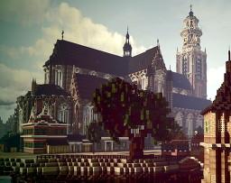 Grote of Sint Laurenskerk, Rotterdam, Zuid Holland, Netherlands Minecraft Map & Project