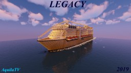 M/S Legacy - Full Interior with Download (Custom Ship) Minecraft Map & Project