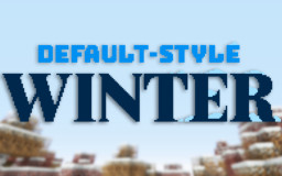 Default-Style Winter Pack Minecraft Texture Pack