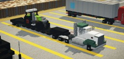 Kenworth T800W w/ Claas Tractor Minecraft Map & Project
