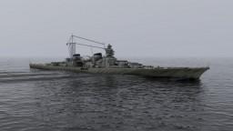 """4:1 """"O Class Battle Cruiser """"KM Admiral Lutjens"""" Minecraft Map & Project"""