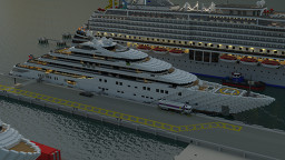 Megayacht 'DALMATIAN' (full interior) [Collaboration with Flexelsson] Minecraft Map & Project
