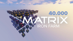 THE MATRIX / Lag-Tester Iron Farm with Nether Portals Minecraft Map & Project