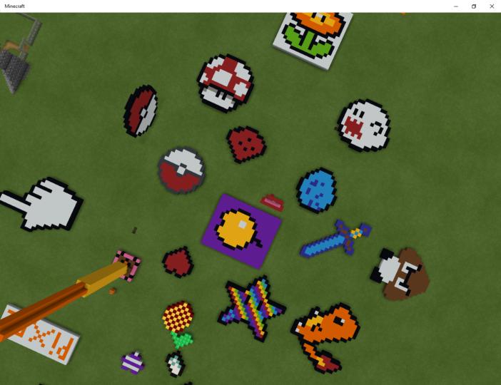 Pixel Art Ideas World Minecraft Map