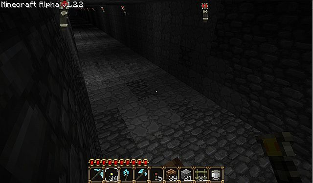 Tunnel Detail with standard torches added for lighting the image