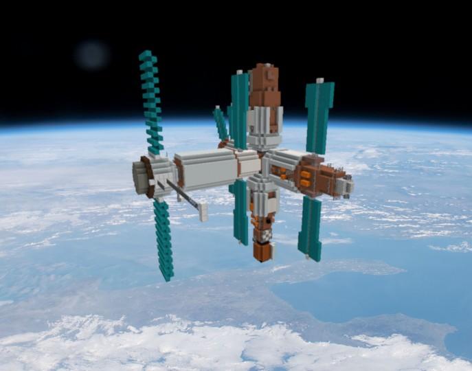 Soviet Russian Space Station Mir Mir Minecraft Map