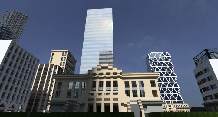 Original Courthouse, the CityGroup Tower and Hearst Tower in the background.