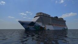 Norwegian Escape 1:1 Scale Replica - TropicalCraft Built - Exterior Only Minecraft Map & Project