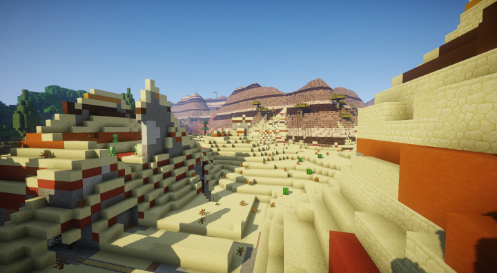 Part of our Survival server's custom world.