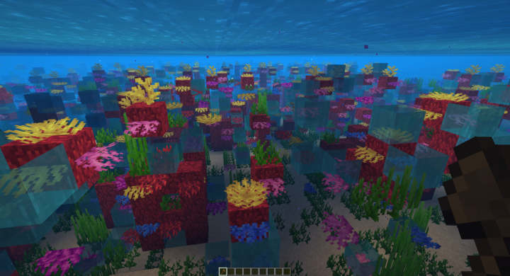 Many times, the coral fans create flowing water on world load. World Edit fixwater can fix this