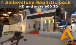 Amberstone - Realistic and 3D experience [x128] 1.8 to 1.15 Minecraft Texture Pack