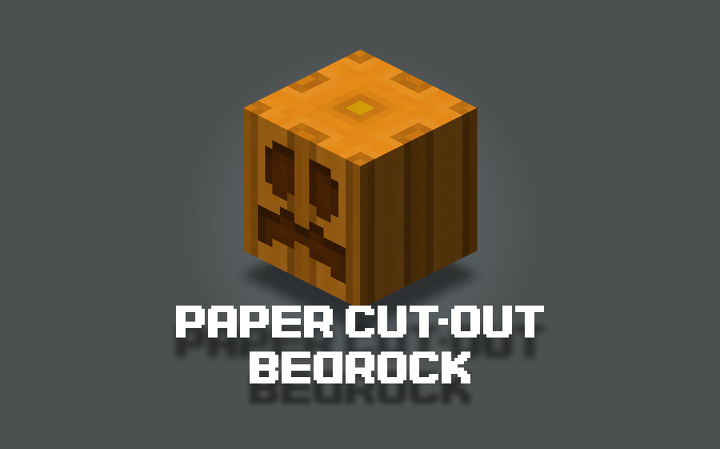 Paper Cut Out Bedrock Edition Minecraft Texture Pack