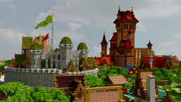 """Big Medieval Town"" (700x700,render) Minecraft Map & Project"