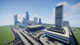 Scale 1:1 Palace of Culture and Science (PKiN) in Warsaw Poland - stage 8 Minecraft Map & Project
