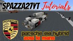 Porsche 919 Hybrid 2015 Le Mans Minecraft Map & Project