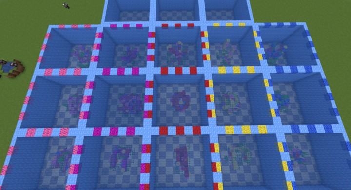 15 Plots, each coral type has a wave style, dome style, and cactus style.