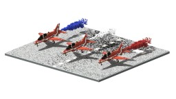 RAF Red Arrows | 5:1 Diorama Minecraft Map & Project