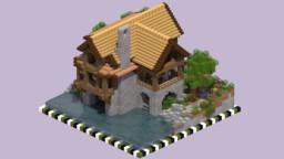 Riverside Cabin Minecraft Map & Project