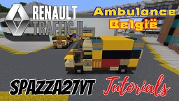 Renault Trafic II - Belgische Ambulance Minecraft Map & Project