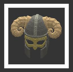 3D Viking Medieval Helmet Minecraft Texture Pack