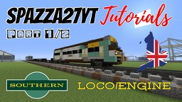 Southern Train Loco Engine and Passenger Wagon (2 part Video) Minecraft Map & Project