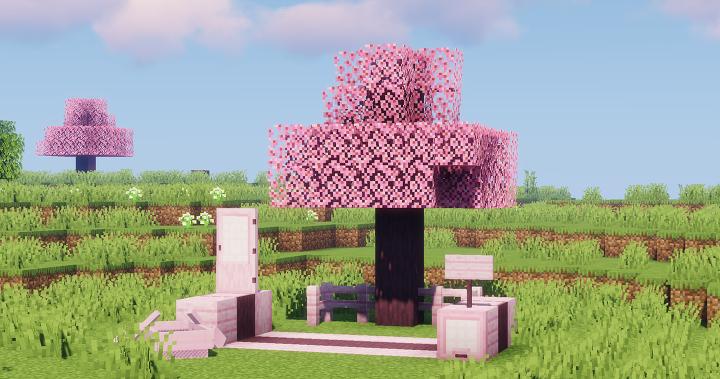 Wistful S Sakura Trees Minecraft Texture Pack
