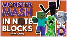 Monster Mash | Minecraft Note Block Song Minecraft Map & Project