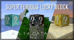 Super Furious Lucky Block Data Pack (Survival Friendly; over 300 drops; for 1.14 and 1.15) Minecraft Data Pack