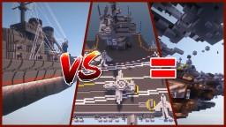 Battleship vs Aircraft Carrier Minecraft Map & Project