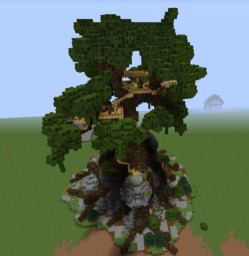 Huge Oak Treehouse...live amongst nature! Minecraft Map & Project