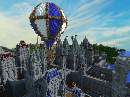Medieval Hot Air Balloon Minecraft Map & Project