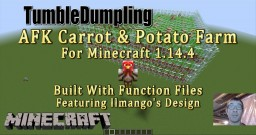 AFK Carrot & Potato Farm for Minecraft 1.14.4 (Uses Function Files) Minecraft Map & Project