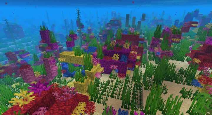 Custom map made with World Painter to test placing these coral reefs